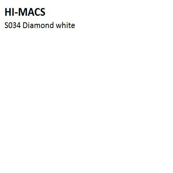 Hi-Macs S034 Diamond White (фото)
