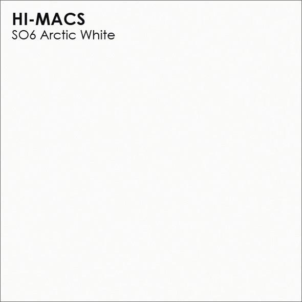 Hi-Macs S06 Arctic White (фото)