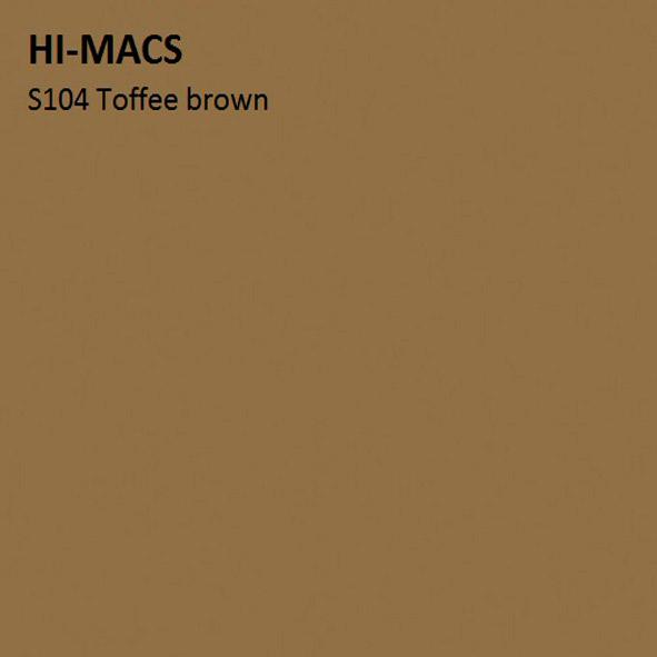 Hi-Macs S104 Toffee Brown (фото)