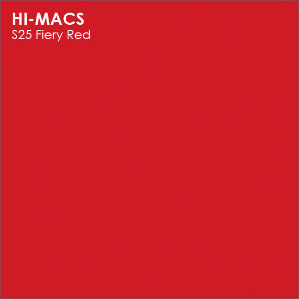Hi-Macs S25 Fiery Red (фото)