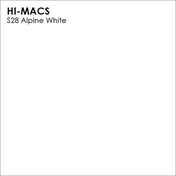Hi-Macs S28 Alpine White (фото)