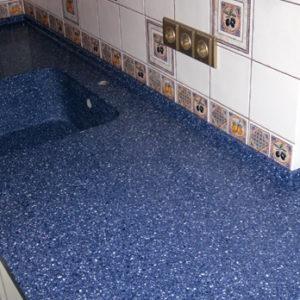 Grandex A-402 Blue Dream, Кухонные столешницы (фото)