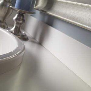 Corian Bisque, Столешница в ванной комнате (фото)