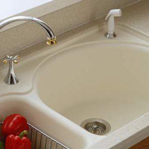 Corian Vanilla, Кухонная раковина (фото)