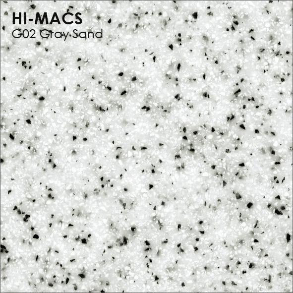 Hi-Macs G002 Grey Sand (фото)